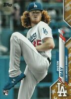 2020 Topps Factory Set DUSTIN MAY Gold Star Parallel Dodgers Rookie RC #235