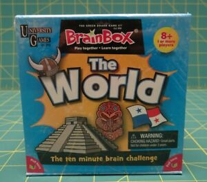 University Games BrainBox Memory Game The World Edition Ages 8 and Up