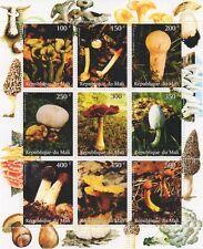 MUSHROOMS OF THE WORLD FUNGI REPUBLIQUE DU MALI 1998 MNH STAMP SHEETLET