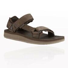 Teva Mens Original Universal Premier Leather Walking Shoes Sandals Brown Sports