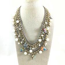 Ann Taylor 2 Tone Enamel & Rhinestone Sea Life & Faux Pearl Dangles Necklace