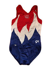 Gk Elite Red White and Blue Usa Gymnastics Leotard Child Medium Collectable
