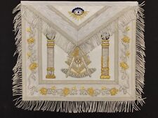 Past Master Embroidered Apron (Silver)