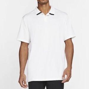 NIKE Golf Polo Shirt Men's Dri-Fit White / Black - S M L XL XXL NWT