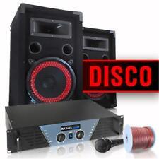 EQUIPO SET SONIDO DJ AMPLIFICADOR 480W 2xALTAVOCES BAFLE 20CM 1000W MICRO CABLES