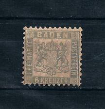 Germany states Baden 1862-65 Sc#22a MH Prussian Blue CV575$ 1864