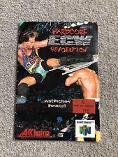 ECW Hardcore Revolution **Instruction Manual Only** Nintendo 64 N64