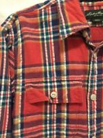 Eddie Bauer CLASSIC FIT Flannel Long Sleeve Button Front Shirt Mens Size Small