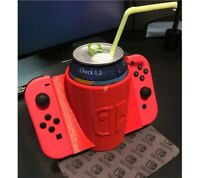 Nintendo Switch Drink Holder JoyCon Grip Can Cup Accessory White Elephant Gift