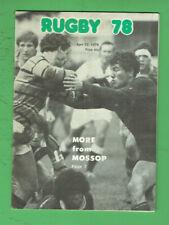#Kk. Rugby Union Program - 22/4 1978