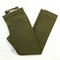 Banana Republic Womens Size 4 L SLOAN Skinny Trouser Ankle Jeans Olive Inseam 29