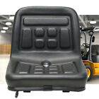Slidable Black Tractor Seat With a drain hole water-resistant thick pu leather