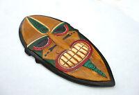Geschnitzte Afrika Wandmaske Afro Maske 50cm Schildmaske Holz Wandschild Relief