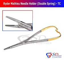 Titular de la aguja Ryder TC fórceps quirúrgica dental 17.5 cm/Doble Primavera nadelhalter