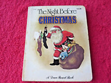 A Dean Board Book The Night Before Christmas Vintage Collectible