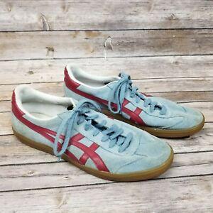 RARE Asics Onitsuka Tiger Burgundy Red Blue Gum Sz 10.5 Men's Shoes D3B2L