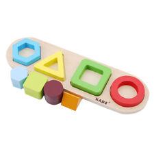 Toddler Educational Toys Wooden Geometric Board Blocks Stacking Sort For Kids Z