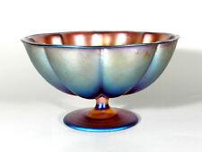 WMF Myra Lüster-glas ° Karl Wiedmann Aufsatz-Rippenschale° Arte Deco Cristal°