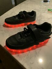 Light Up Black Sneakers Black Size 3