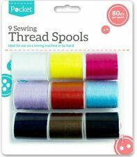 SEWING THREAD SPOOLS Colourful Bright Machine Hand Polyester All Purpose Bobbin