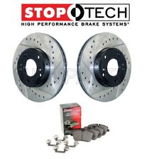 For F06 F12 F13 F10 Set of Front Sport Drilled & Slotted Brake Discs With Pad