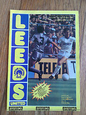 19/09/1983 Leeds United Vs Cardiff City Football Match Programme