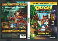 DVD case official promo sleeve NO GAME NO BOX Crash Bandicoot N Sane trilogy