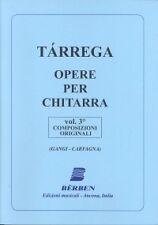 TARREGA GUITAR WORKS Vol 3 Original Compositions