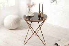 Designer Couchtisch Kupfer Schwarz Glastisch Tisch Beistelltisch REPRO Art Deko