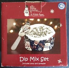 Snow Friends Collection by St. Nicholas Square ~ DIP MIX SET ~ Bowl and Spreader
