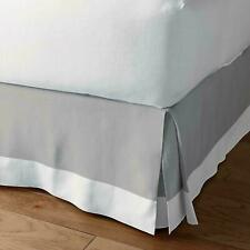 New** Two Tone Bed skirt 1000 Thread Count Egyptian Cotton Light Grey-White
