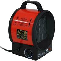 Sunnydaze Portable Ceramic Electric Space Heater with Auto Shutoff - 1500W/750W