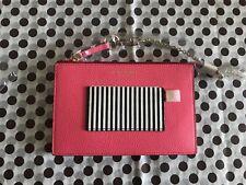 Henri Bendel New York NWT Wristlet Pouch Leather Shoulder Bag Crossbody in pink