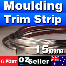 8Ms DIY Moulding Trim Strip Car Chrome Door Window Bumper Grille Silver 15mm NEW
