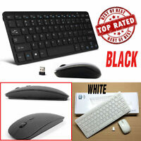 2.4GHz Wireless Multimedia Keyboard & Optical Mouse Combo w/Nano USB Receiver TO