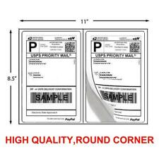 1000 Shipping Labels 85 X 55 Half Sheets Round Corner 2 Label Per Sheet