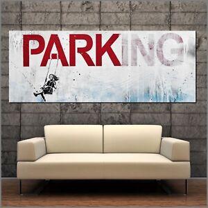 Banksy Respray No Parking Urban Pop Street Art Textured Painting 160cm x 60cm