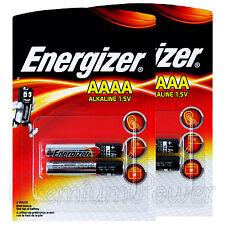 4 x Energizer AAAA batteries Alkaline 1.5V MX2500 E96 LR61 MN2500 Pack of 2