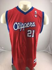 VINTAGE DARIUS MILES #21 CHAMPION Red blue jersey L.A. CLIPPERS Basketball NBA