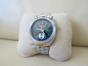 Citizen Bull Head Chronograph Green Automatic Watch Ref. 67-9020