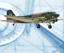 CONTROL LINE  SCALE 471/2  2-.19 to.23  DOUGLAS C 47  NOTES & F/S PRINTED PLANS
