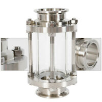 "2"" Flow Tri Clamp Φ51 Sanitary Sight Glass SS304 Liquid Gas 51MM Fluid DN25--100"
