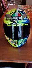 Valentino Rossi AUTOGRAPHED XL TI-TECH 2002 Suzuka AGV  Helmet