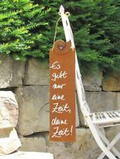 Edelrost Spruchschild Der schönste Ort der Welt Wandtafel Metallschild Garten