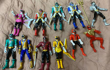 Lof Of 11 Small Mighty Morphing Power Rangers Toys Pre-owned SCG PR Plastic
