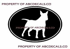 Vrs Oval Dog Mini Bull Terrier Adoption Puppy Rescue Car Decal Vinyl Sticker