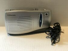 Emerson AM/FM Radio. Portable. Used But Works Great. Optional PowerCord Included