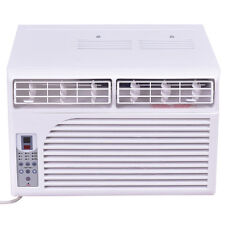 10000 BTU White Compact 115V Window-Mounted Air Conditioner w/ Remote Control