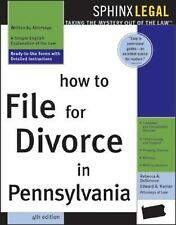 How to File for Divorce in Pennsylvania, 4E