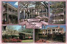 New Orleans Garden District Louisiana St. Charles Avenue Streetcar etc. Postcard